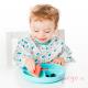 Plato de silicona Bumkins azul bebé