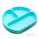 Plato de silicona Bumkins azul