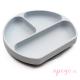 Plato de silicona Bumkins gris