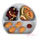 Plato de silicona Bumkins gris alimentación complementaria