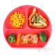 Plato de silicona Bumkins rojo alimentación complementaria