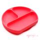 Plato de silicona Bumkins rojo