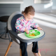 Plato de silicona Bumkins verde bebé