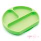 Plato de silicona Bumkins verde