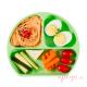 Plato de silicona Bumkins verde alimentación complementaria