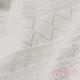 Fular tejido Fidella Cubic lines pale grey