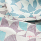 Fular tejido Fidella Kaleidoscope turquoise plum