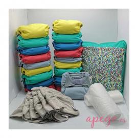 Pack 20 pañales Todo en Dos Pop in unitalla colores vivos
