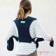 Fular portabebés híbrido Moby Fit azul espalda