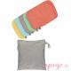 Toallitas lavables de bambú colores pastel pop in