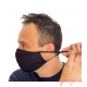 Mascarillas higiénicas antibacterial Quokkababy adultos negra ajuste