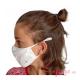 Mascarillas higiénicas antibacterial Quokkababy blanco niño niña