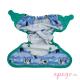 Cobertor pop in velcro blue puffin interior