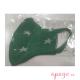 Mascarilla higiénica infantil antibacteriana Migueleto estrellas verde