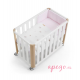 Minicuna/cuna Doco sleeping Cotinfant natural star rosa