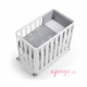 Minicuna/cuna Doco sleeping Cotinfant blanco tipi gris