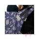 Mochila portabebés Fidella Fusion Toddler 2.0 floral touch eclipse blue detalle