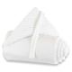 Protector para minicuna Babybay Trend Topos blanco y gris