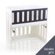 Barrera para minicuna Babybay Trend Lacado gris