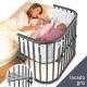 Minicuna Babybay Maxi Lacado gris