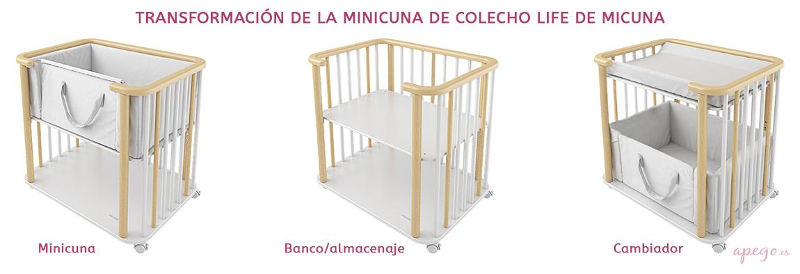 Transformación minicuna Life de Micuna