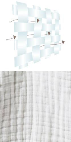 Muselinas transpirables de algodón
